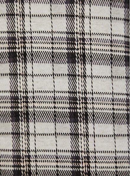 Black & Ivory Plaid Drape Jacket, PLAID - IVORY, alternate