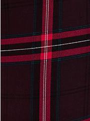 Studio Ponte Burgundy Plaid Pull-On Pixie Pant, PLAID - MULTI, alternate