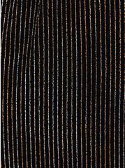 Glitter Stripe Self-Tie Wide Leg Pant, STRIPE -BLACK, alternate