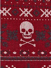 Dark Red Skull Fair Isle Thermal Sleep Legging , MULTI, alternate