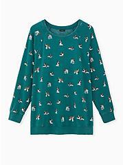 St. Bernard Green Fleece Sweatshirt, DEEP DEPTHS, hi-res