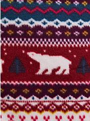Plus Size Multicolor Fair Isle Bear Sleep Onesie, MULTI, alternate