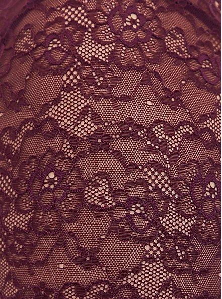 Super Soft & Lace Grape Purple Lattice Babydoll Top, POTENT PURPLE, alternate