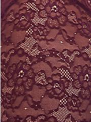 Super Soft & Lace Grape Purple Lattice Babydoll Top, POTENT PURPLE, alternate
