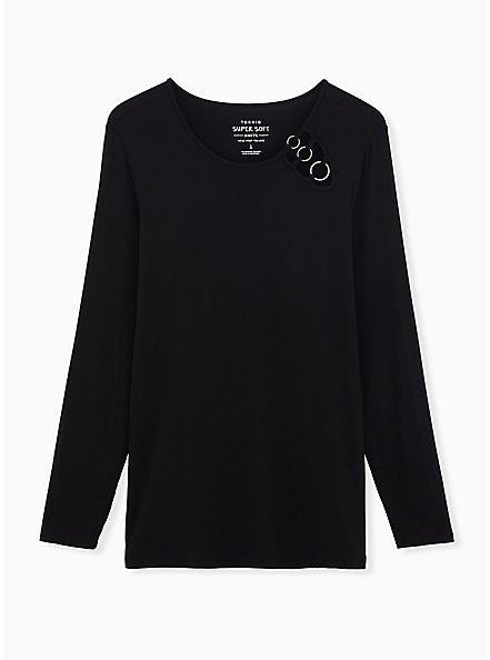 Super Soft Black O-Ring Top, DEEP BLACK, hi-res