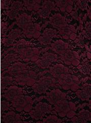 Burgundy Purple Flocked Hacci Lace Fit & Flare Top, WINETASTING, alternate