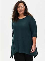Super Soft Plush Dark Green Lattice Back Tee, GREEN GABLES, alternate