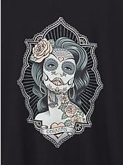 Tattoo Art Black Slim Fit Crew Tee, DEEP BLACK, alternate