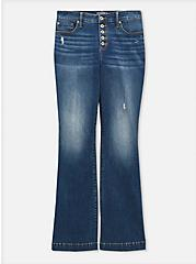 Mid Rise Flare Jean - Vintage Stretch Medium Wash, ROCKSTAR, hi-res