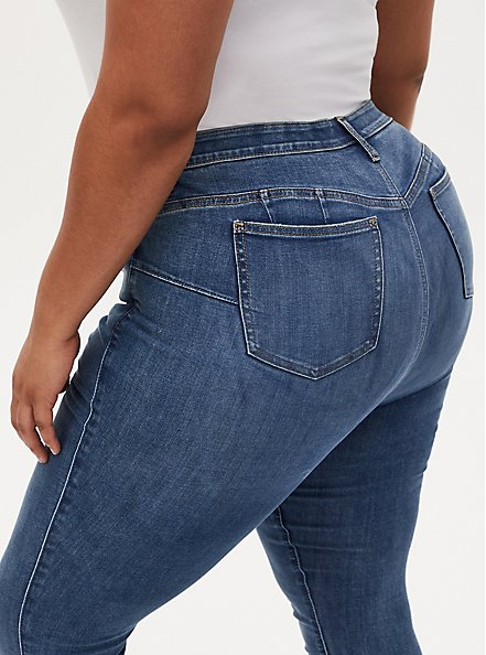 Bombshell Skinny Jean - Super Soft Eco Medium Wash, , alternate