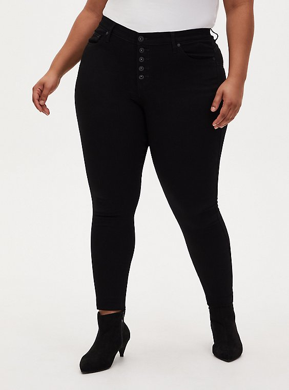 Bombshell Skinny Jean - Super Soft Black, , hi-res