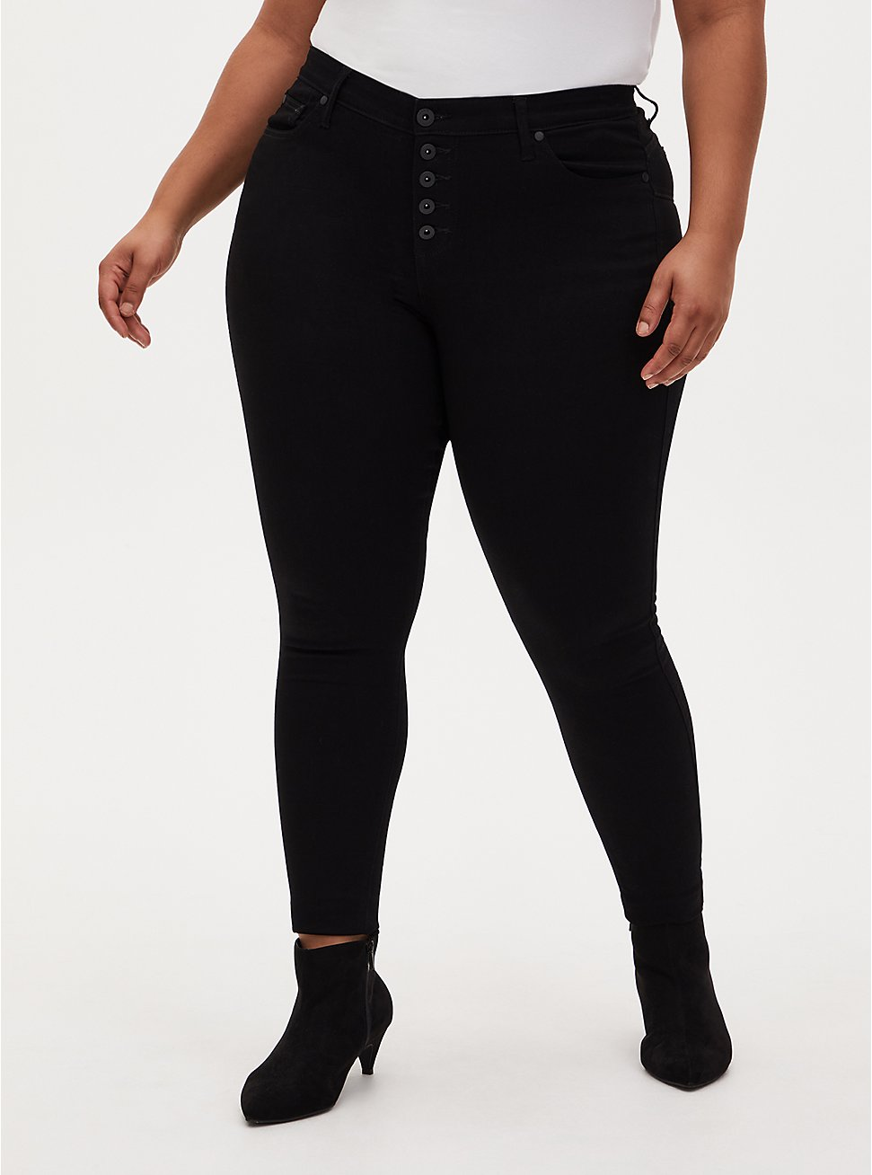 Bombshell Skinny Jean - Super Soft Black, BLACK, hi-res