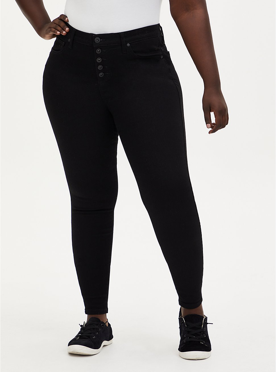 Bombshell Skinny Jean - Super Soft Black, , fitModel1-hires