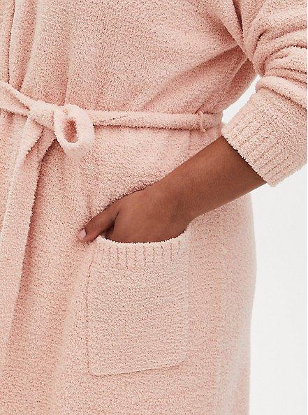 Pink Teddy Longline Sleep Robe, PINK, alternate