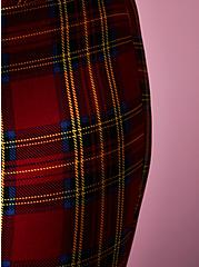 Betsey Johnson Red Tartan Pixie Pant, PLAID - RED, alternate