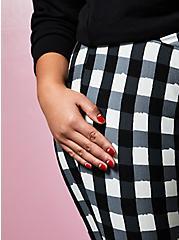 Plus Size Betsey Johnson Black & White Plaid Pixie Pant, PLAID - BLACK, alternate