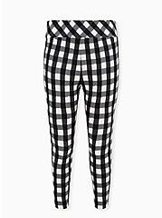 Plus Size Betsey Johnson Black & White Plaid Pixie Pant, PLAID - BLACK, hi-res