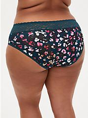 Multi Leopard Wide Lace Cotton Hipster Panty, POPPING LEOPARD, alternate
