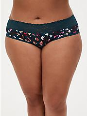 Multi Leopard Wide Lace Cotton Hipster Panty, POPPING LEOPARD, hi-res