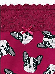 Berry Pink Frenchies Wide Lace Cotton Cheeky Panty, OVERSIZED FRENCHIES, alternate