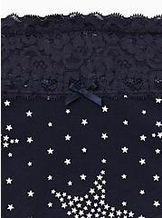 Navy Starry Night Wide Lace Cotton Cheeky Panty, STARRY NIGHT, alternate