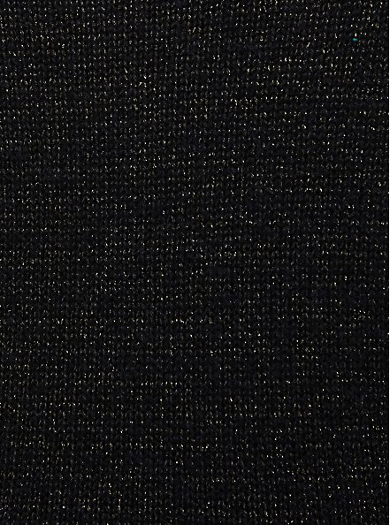 Black Crop Crew Neck Pullover, DEEP BLACK, alternate