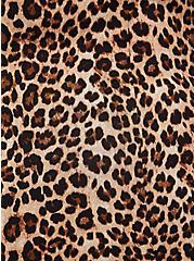 Leopard Challis Fit & Flare Blouse, LEOPARD, alternate