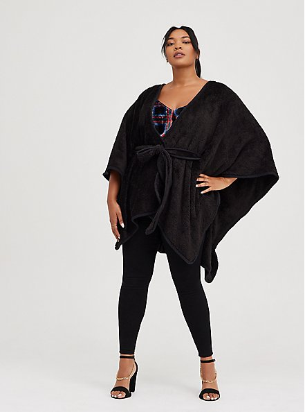 Sophie - Multi Plaid Velvet Swing Cami , PLAID - BLACK, alternate