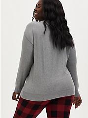 Super Soft Plush Bah Humbug Grey Sleep Sweatshirt, GREY, alternate