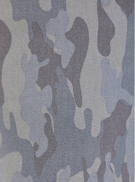 Classic Fit Crop Sleep Jogger - Fleece Camo Grey, MULTI, alternate
