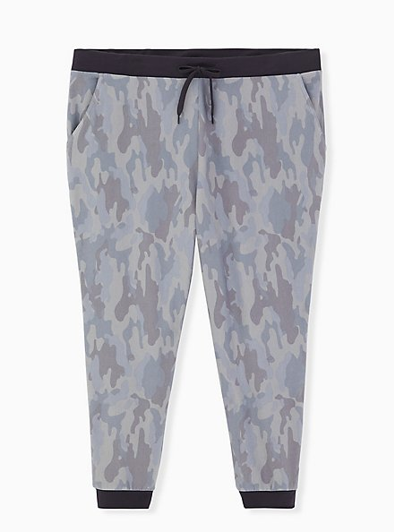 Classic Fit Crop Sleep Jogger - Fleece Camo Grey, MULTI, hi-res