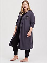 Naughty Or Nice Grey Terry Sleep Robe, GREY, alternate