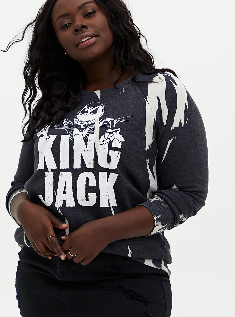 Disney The Nightmare Before Christmas King Jack Sweatshirt, DEEP BLACK, hi-res