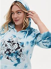 Looney Tunes Characters White & Blue Tie-Dye Hoodie, CLOUD DANCER, alternate