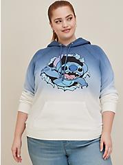 Disney Lilo & Stitch Blue Dip-Dye Fleece Hoodie, MULTI, alternate