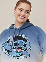 Disney Lilo & Stitch Blue Dip-Dye Fleece Hoodie, MULTI, hi-res