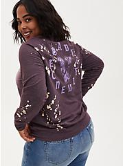 Disney Villains Bad Influence Spot Bleach Sweatshirt, PLUM PURPLE, alternate