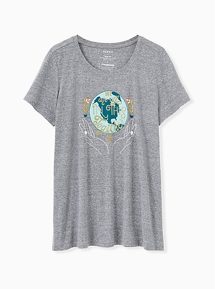 #TorridStrong In This Together Slim Fit Crew Tee - Triblend Grey, MEDIUM HEATHER GREY, hi-res