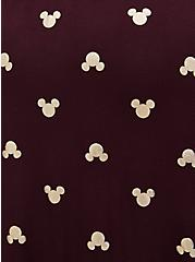 Disney Mickey Mouse Gold & Burgundy Purple Jersey Skater Dress, WINETASTING, alternate