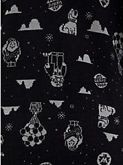 Disney Pixar Up Characters Black & Grey Jacquard Cardigan, DEEP BLACK, alternate