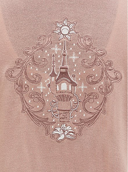 Disney Tangled Embroidered Castle & Sun Drape Front Cardigan, MULTI, alternate