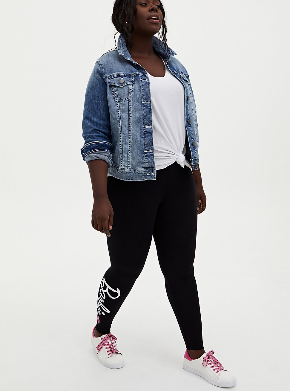 Barbie Logo Black Legging, BLACK, hi-res