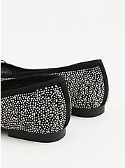 Black Embellished Ballet Flat (WW), BLACK, alternate