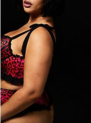 Betsey Johnson Hot Pink Leopard Satin Underwire Bralette, ROMANTIC LEOPARD, alternate