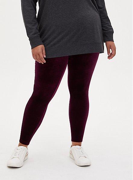 Platinum Legging - Velvet Burgundy Purple , PURPLE, alternate