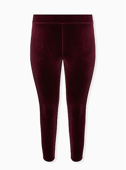 Platinum Legging - Velvet Burgundy Purple , PURPLE, hi-res
