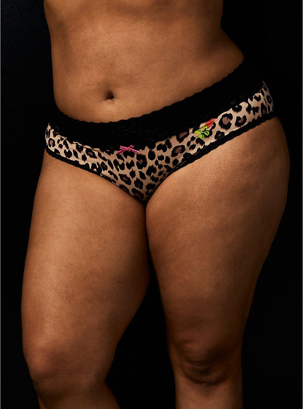 Betsey Johnson Leopard Floral Second Skin Hipster Panty, LEOPARD ROSE BUD, hi-res