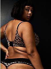 Betsey Johnson Leopard Floral Second Skin Thong Panty , LEOPARD ROSE BUD, alternate