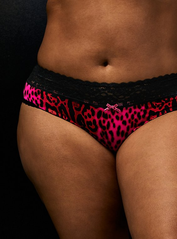 Betsey Johnson Red Leopard Second Skin Hipster Panty, , hi-res