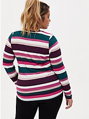 Super Soft Multi Stripe Long Sleeve Tee, MULTI STRIPE, alternate
